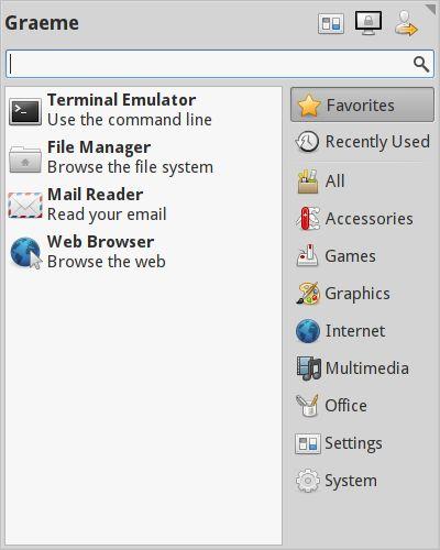 xfce4-whiskermenu-plugin — Альтернативный плагин для среды рабочего стола Xfce