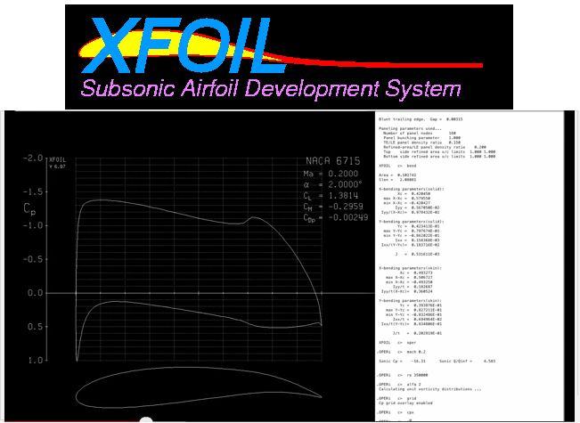 xfoil — программа для проектирования и анализа дозвуковых аэродинамических поверхностей