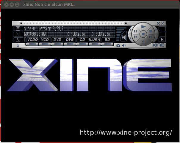 xine-ui — видеопроигрыватель xine, пользовательский интерфейс