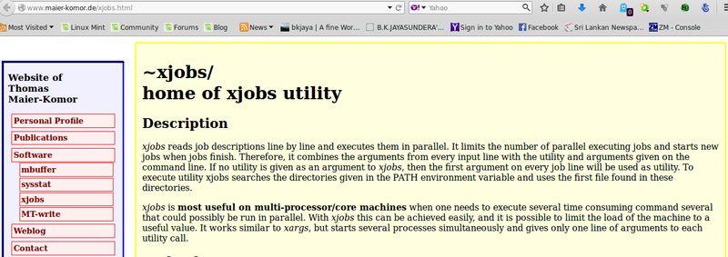xjobs — читает описание задания по строкам и выполняет их параллельно