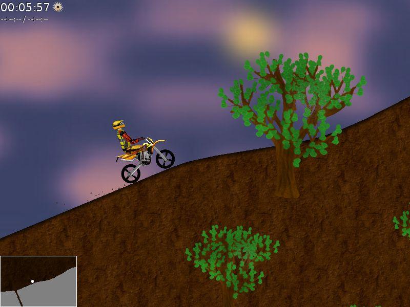 xmoto — Игра 2D мотокросс платформы