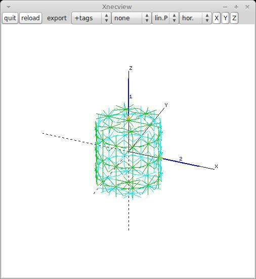 xnecview — Структура NEC и просмотрщик диаграмм усиления