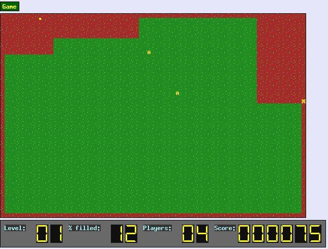 xonix — игра, чтобы вырезать экран, пока уклонялись от монстров
