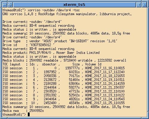 xorriso — командная строка ISO-9660 и инструмент манипуляции Rock Ridge