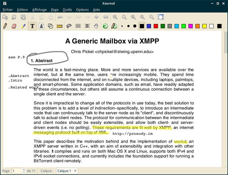 xournal — GTK+ Приложение для заметок