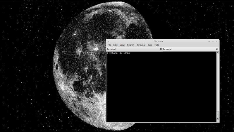xphoon — устанавливает корневое окно на изображение луны
