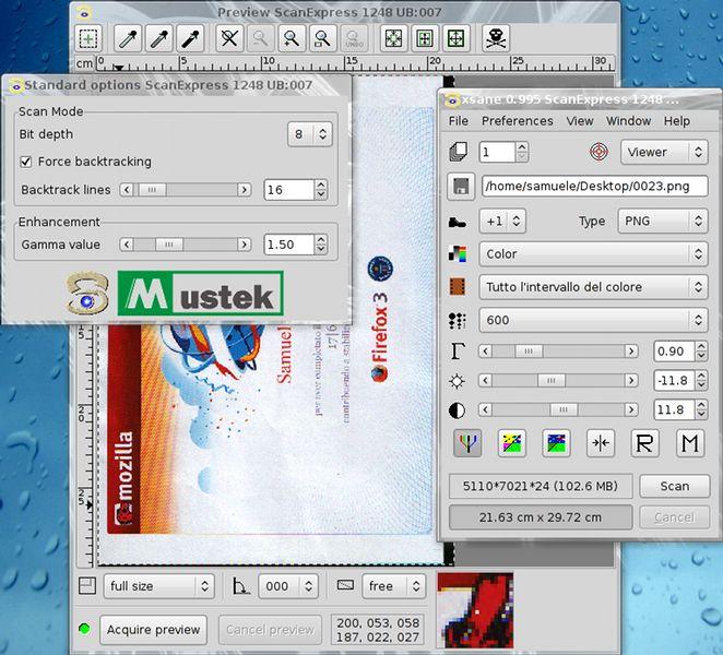 xsane — функциональный графический интерфейс для SANE (теперь доступ к сканеру легко)