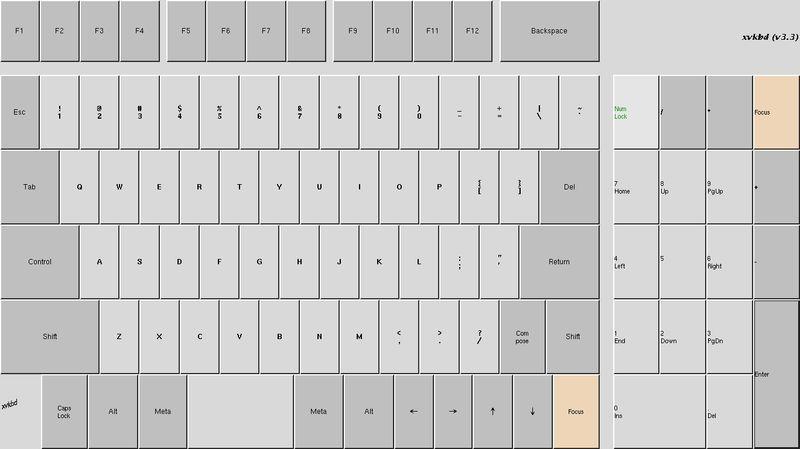 xvkbd — виртуальная клавиатура для X11