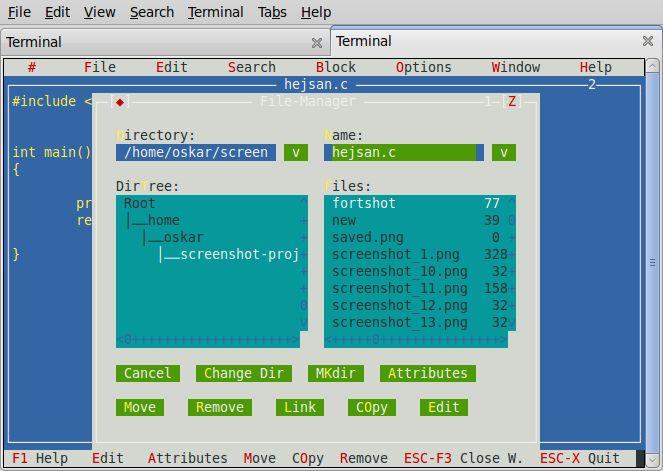 xwpe — Среда программирования и редактор для консоли и X11