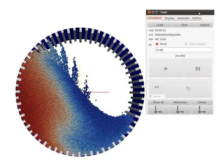 yade — Платформа для моделирования дискретных элементов