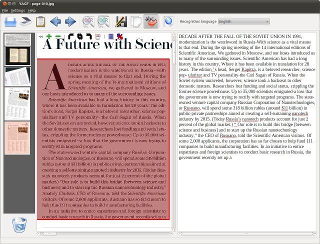 yagf — графический интерфейс для клинописи и tesseract