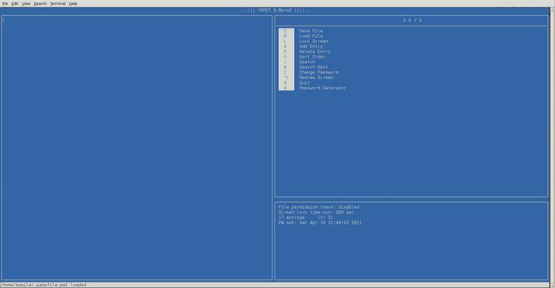 yapet — Еще один инструмент шифрования паролей