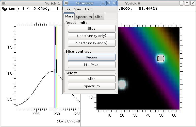 yorick-cubeview — Средство просмотра данных 3D FITS, специализирующееся на спектральном изображении